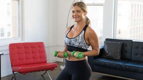 BodyseflieTV online workout videos | Sarah Kusch's Tank Top Arms Workout